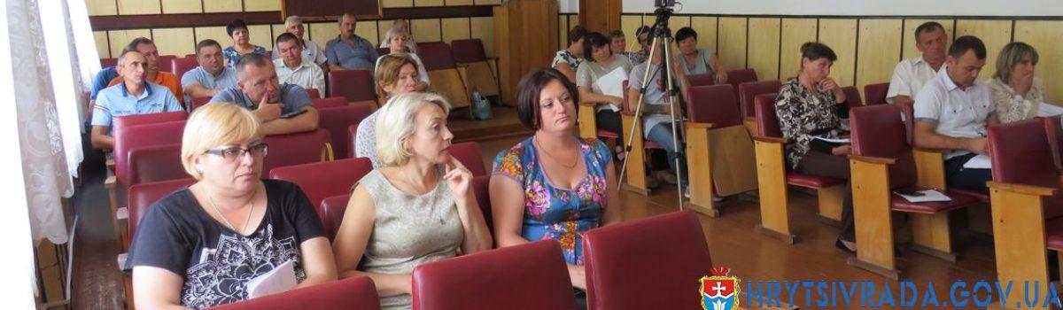 Відбулася двадцята позачергова сесія Грицівської селищної ради
