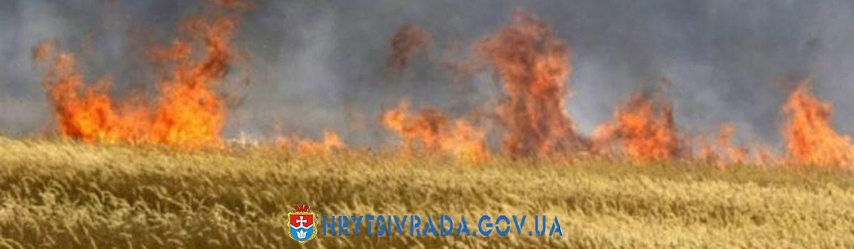 Пожежна небезпека під час жнивної компанії 2020