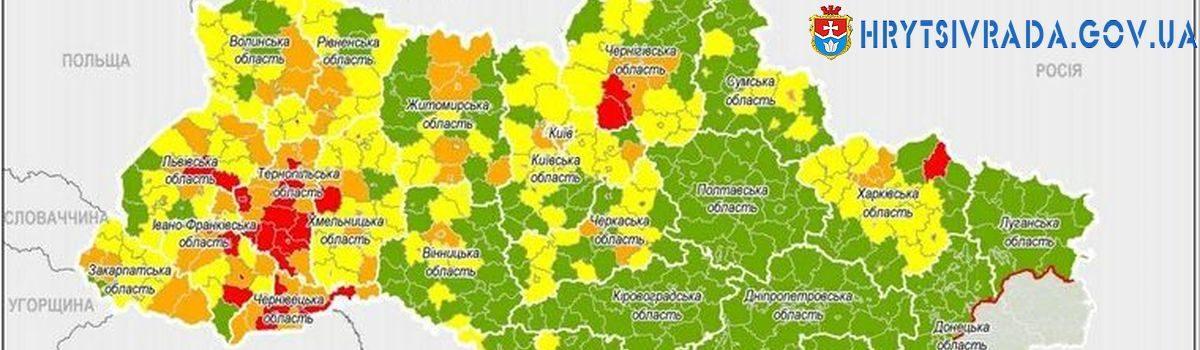 З 14 вересня «червоний» рівень епіднебезпеки діятиме у 37 адміністративних одиницях, Київ – на «помаранчевому» рівні
