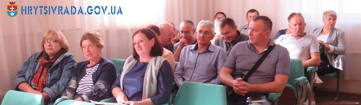 Відбулася тридцять п'ята  позачергова сесія Грицівської селищної ради 25 вересня 2020 року