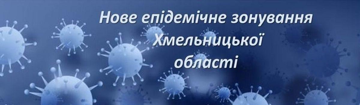 Оновлено рівні епідемічної небезпеки поширення COVID-19 в Хмельницькій області